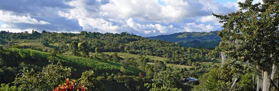 Das Hochland Kolumbiens - fruchtbar, aber arm
